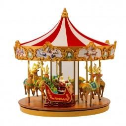 Very Merry Carousel es decorado con Renos y Santa Claus trineo