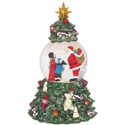Bola de nieve en un arbol de Navidad