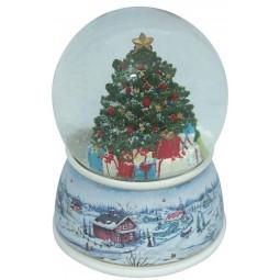 Bola de nieve con arbol de Navidad