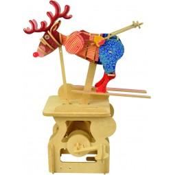 "Kit extravagante de madera ""Alce esquiador"""