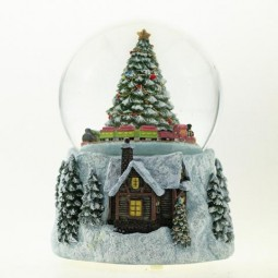 Snow globe with tree & train