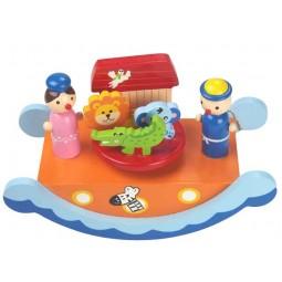 """Caja de musica balancin de madera """"arca de Noe"""""""