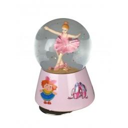 Bola brillantina en rosa con bailarina
