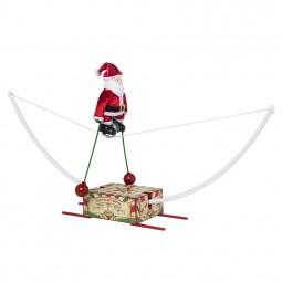 Santa en un monociclo