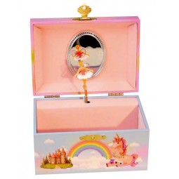 Jewelry musical box fairy and unicorn