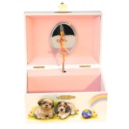 Jewelry musical box dogs