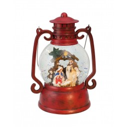 "Musicbox ""Red lantern in wood-look"