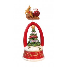 Musicbox Christmas tree with flying Santa