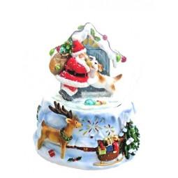 Bola de nieve, Santa con perro