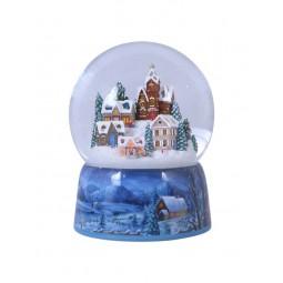 Snowglobe, porcelain base, winterly village