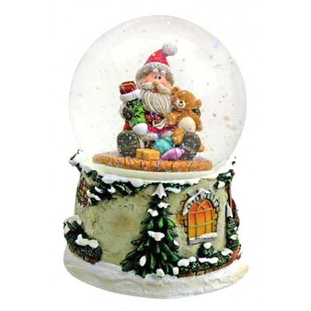 "Snowglobe ""Santa with teddy"""