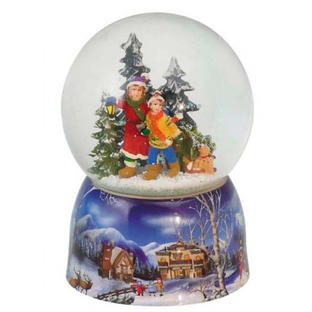 """Snowglobe """"Kids with lantern in the woods"""""""
