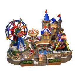 """Colorful annual fair scene"""
