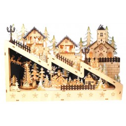 """Wooden Christmas-town"""