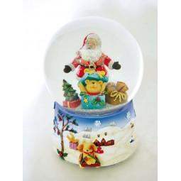 Bola, Santa y Oso en la caja