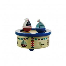 """Caja de música de madera """"veleros"""""""