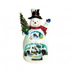 Escena del muñeco de nieve
