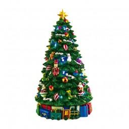 La árbol de Navidad iluminada