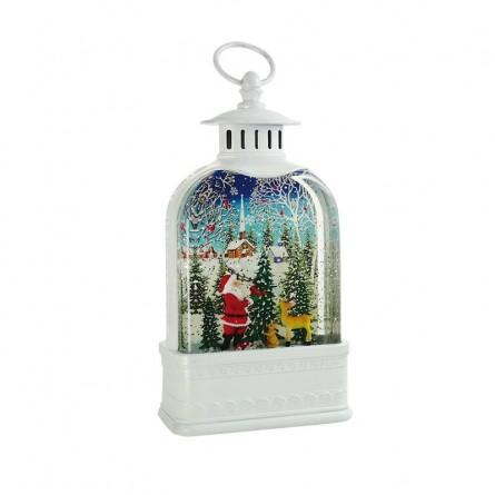 """Linterna blanca """"Santa en el bosque"""""""