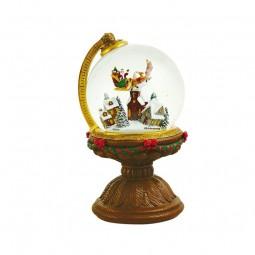 Santa Claus volando en un globo