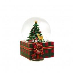 Bola de nieve en forma de regalo
