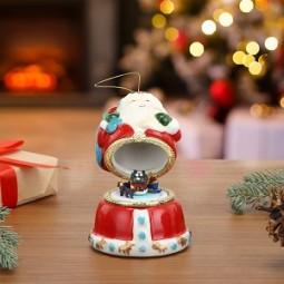 Caja de música de porcelana - Santa Claus