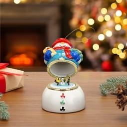 Caja de música de porcelana - el Hombre de nieve toca
