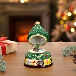 Caja de música de porcelana - el árbol toca