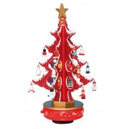 Arbol de Navidad rojo con purpurina