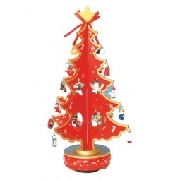 Árbol de Navidad rojo 380 mm