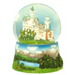 Bola brillantina castillo Neuschwanstein