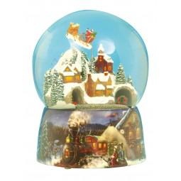 "Schneekugel ""Zug & Santa"""