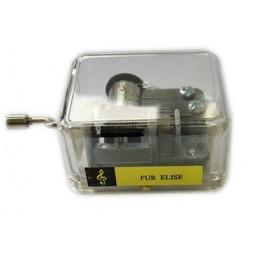 """Manubrio en una caja de plastico, toca la melodia """"Frere Jacques"""""""