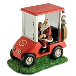 Papa Noel en un coche de golf