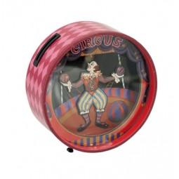 Sparbüchse mit tanzendem Clown