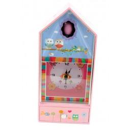 Caja de musica reloj y lechuza