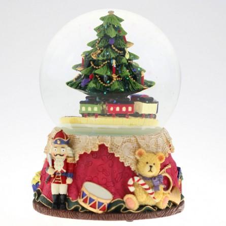 Bola de nieve con arbol de navidad - Bola arbol navidad ...