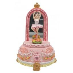 Bailarina rosa con espejo
