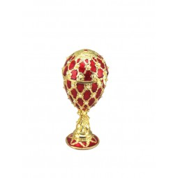 Huevo Fabergé rojo