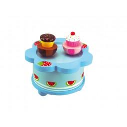 "Caja de musica de madera ""Cupcakes bailando"""