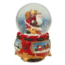 Bola de nieve Santa Claus 80 mm