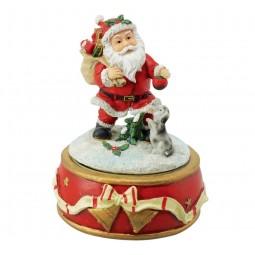Papa Noel con perro