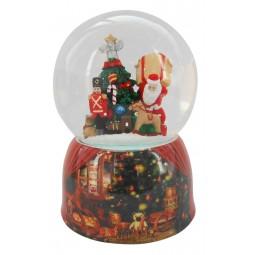 Bola de nieve con Papa Noel y regalos