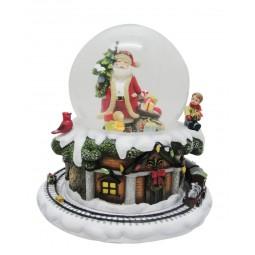 Bola de nieve Santa Claus, Árbol y regalos