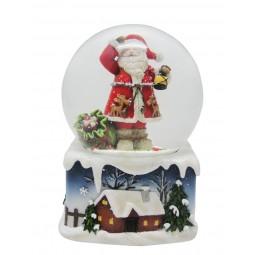 Bola de nieve Papa Noel farola