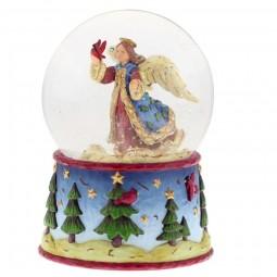 Bola de nieve con angeles