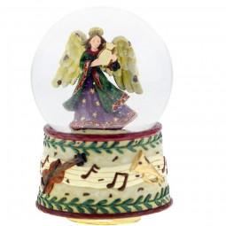 Bola de nieve angeles y base adornada con notas