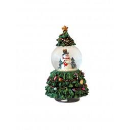 Arbol de Navidad con bola de nieve