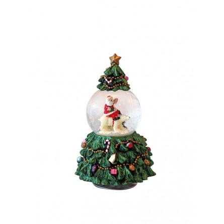Arbol de navidad con bola de nieve 56084 - Bola nieve navidad ...