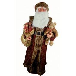 Papa Noel grande vestido en brocado